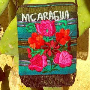 Floral Nicaragua over the shoulder bag